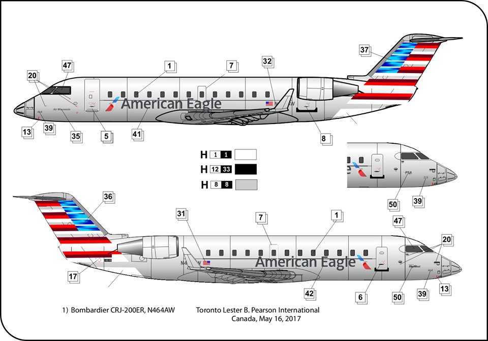 BPK 14402-1//144 Regional plane BPK 14402 Bombardier CRJ 200 plastic model